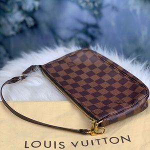 Authentic Louis Vuitton Pochette Damier Ebene